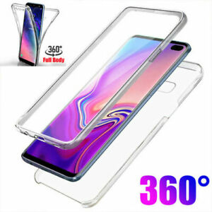 For Samsung Galaxy S10/S10P/E Full Body 360° Silicone Gel Clear Dual Case Cover