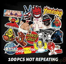 100Pcs Skateboard Stickers Vintage Vinyl Sticker Laptop Luggage Car Decal Hot SS