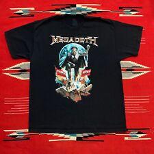 Megadeth Cyber Army 2015 Tour Graphic T Shirt Size XL/2XL