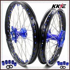 KKE 21/18 Casting Enduro Wheels Rims Set for YAMAHA YZ250F 01-19 YZ450F 2003 Blu