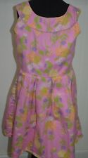 American Girl Kid 8 Dress Pink Floral Tea Party Sleeveless