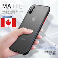 For iPhone X XR XS Max Cove Case Fashion Frosted Protector Silicone Acrylic Case