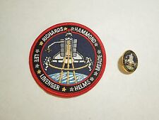 Lot of 2 NASA Space Shuttle Mission STS-64 Discovery Iron On Patch and Pin