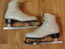 Riedell Royal 900A Figure Ice Skates Women 5.5 C Wilson Majestic Sheffield Blade