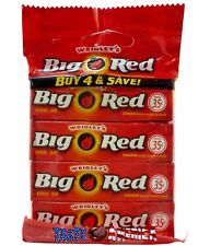 Big Red Cinnamon Flavoured Chewing Gum 4 x 5 Stick Pack Sealed Multi Pack
