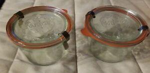 (2) WECK 741 tapered ¼L mold jars 3⅞ x 2⅝