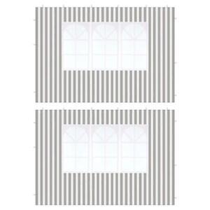 2 Seitenteile mit Fenster anthrazit für Pavillon Partyzelt PE 100 g/m² Zeltplane