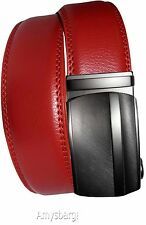 "Real Leather Men's Belt. 38"" Automatic lock. Dress + Casual belt. Fashion belt."