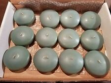 "Lot of 12 Floating Candles Green 3"" Round"
