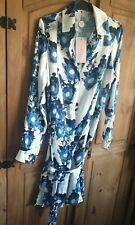 Finery For John Lewis Floral Shirt Satin Dress Belted Size 8 bnwt
