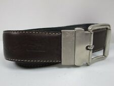 Mens Levis Black And Brown Reversible Leather Belt Size 44 Silver Buckle