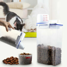 Pet Food Storage Container Airtight Dog Cat Foods Container with Measuring Cup