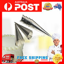 6 X Chefs NEW KITCHEN CREAM HORNS SET OF Molds Moulds Cases Forms Dessert Pastry