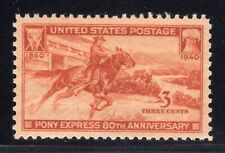 US STAMP #894   3c PONY EXPRESS XF-SUP   MINT  GRADED 95