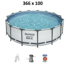 Bestway 56418 Steel Pro MAX Pool 366 x 100 cm 366x100 Gartenpool + Pumpe Leiter