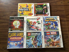 New Super Mario Bros 2 +Kart 7 +Luigi's Mansion+Sonic Lost World+Brain Age (3DS)