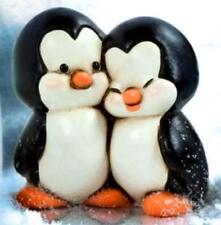 Coppia Pinguini Linea Ping & Pong in Ceramica EGAN Made in Italy 7 x 7 cm