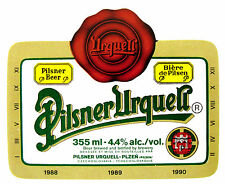 Urquell Brewery PILSNER URQUELL beer label CZECHOSLOVAKIA 355ml ABV 4.4%