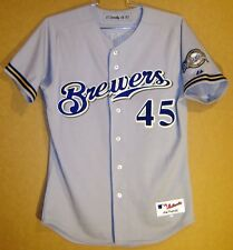 Milwaukee Brewers Rich Donnelly 2003 Road Gray Game Worn Jersey