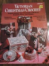 VINTAGE CROCHET CHRISTMAS PATTERNS TREE ORNAMENTS GIFT BOXES MOBILES 1983