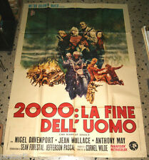 manifesto 4F originale NO BLADE OF GRASS Nigel Davenport Jean Wallace 1971