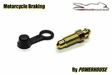 Motorcycle brake caliper 7mm steel bleed screw nipple Kawasaki Suzuki Honda