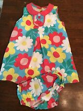 Baby Boden 6-12 Months Easter Floral Two Piece Dress Set