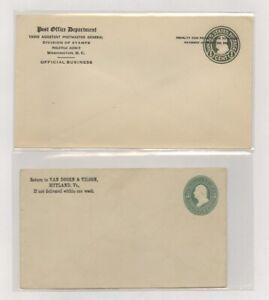 US - 2 Postal Stationeries Lot # 101