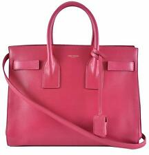 New Yves Saint Laurent YSL Pink Leather Sac de Jour Small Handbag Purse W/Strap