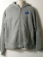 BOYS NIKE AGE 12-13 YEARS GREY HOODED ZIP UP SWEATSHIRT TRACKSUIT TOP JACKET