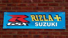 BR27 RIZLA SUZUKI GSXR1000 GSXR GSXR750 GSXR400 600 BANNER GARAGE WORKSHOP SIGN