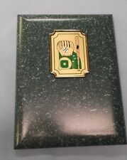 6 x 8 green baseball plaque trophy mitt ball and bat