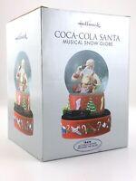 Hallmark 2001 CocaCola Santa Musical Snow Globe Christmas Unopened New S297