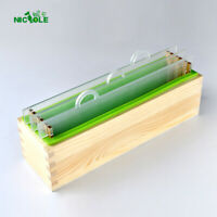 Render Cold Soap Mold Set Rectangle Loaf Mould Free Match Wood Box and Divider