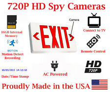 SecureGuard 720P HD Emergency EXIT Sign Spy Camera Nanny Cam 16GB