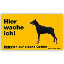 Warnschild Türschild Hinweisschild 17x10 cm wetterfest Dobermann (stehend)