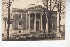 Photo Card Real Photo Postcard Bixby Memorial Free Library Vergennes VT  1378