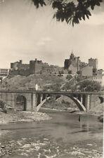 Tarjeta Postal. Ponferrada (LEÓN). Puente de Hierro y al fondo el Castillo.