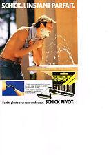 PUBLICITE ADVERTISING   1984   SCHICK  PIVOT   rasoir                     180313