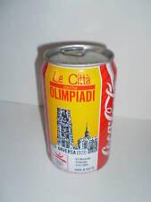 LATTINA COCA COLA CITTA DELLE OLIMPIADI ANVERSA 1920 BIBITA UFFICIALE 1992 RARA