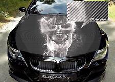 Skull Car Bonnet Wrap Decal Full Color Graphics Vinyl Sticker #140