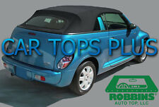 "2004-10 PT Cruiser Convertible Top & Heated Glass ""Robbins"" Black OEM TWR Cloth"
