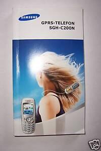 Bedienungsanleitung Samsung SGH-C200N