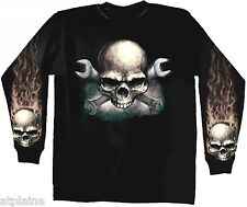 T-Shirt ML WRENCHES SKULL - Taille L - Style BIKER HARLEY