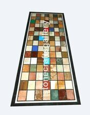 5'x2' Marble Dining Table Top Multi Stone Mosaic Inlay Interior Home Decors B076