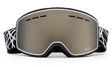 Mens Brown Winter Ski Snowboard Goggles Flash Mirror Dual Panel Anti Fog Lens
