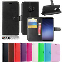Fo Samsung Galaxy A8 2018 + Plus MAXCASE Premium Leather Wallet TPU Case Cover