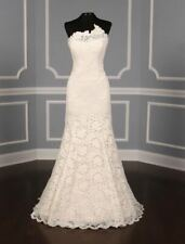 New Romona Keveza L7131 Lace Strapless Trumpet Wedding Dress Legends Size 12