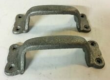 PAIR of Rustic Handles for Barn Doors or Gate Pull, Antique Looking Cast Iron