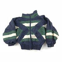 Vintage Kids Track Jacket Windbreaker Size 4 80s 90s Color Block Striped Top